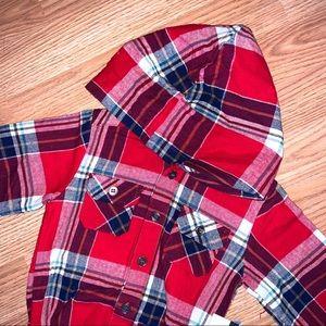 LPC • Hooded Flannel Bodysuit